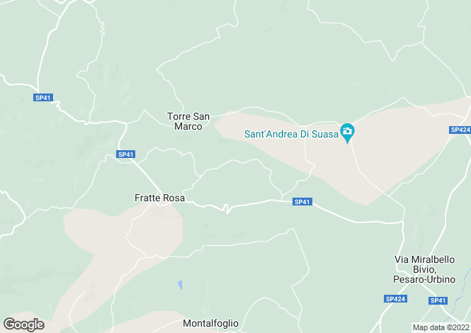 Map for Fossombrone, Pesaro e Urbino, Le Marche
