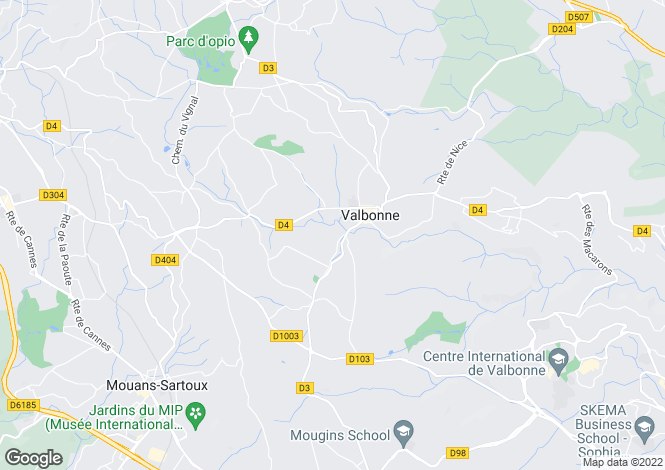 Map for Valbonne, French Riviera