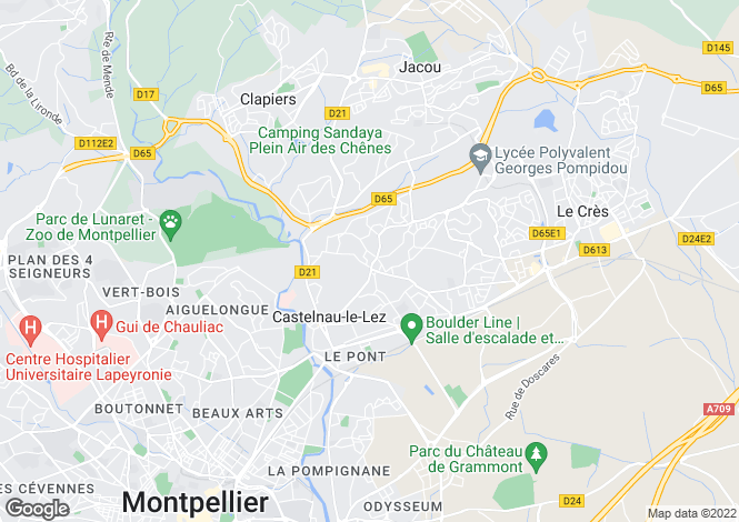 Map for CASTELNAU LE LEZ, Montpellier Area, Languedoc,