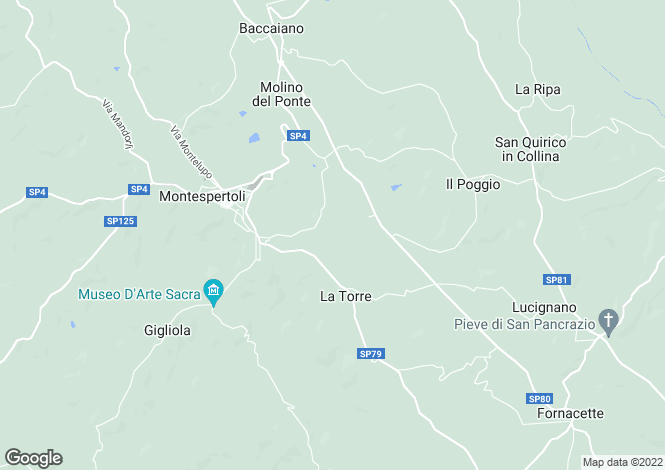 Map for Tuscany, Florence, Montespertoli