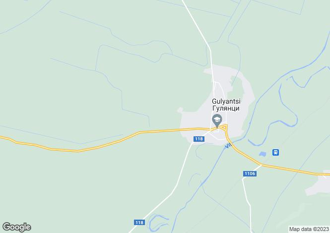 Map for Pleven, Gulyantsi