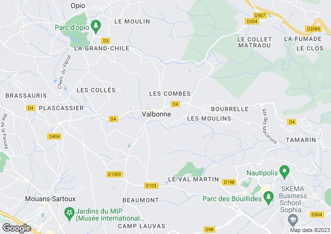 Map for Villa With 2 Independent Cottages, Near Valbonne Village