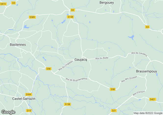 Map for Aquitaine, Landes, Gaujacq