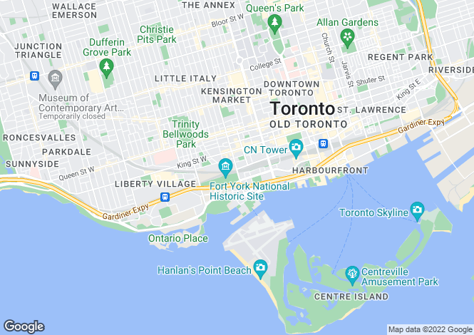Map for Minto Westside, Toronto, Ontario