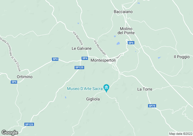 Map for Montespertoli, Florence, Tuscany
