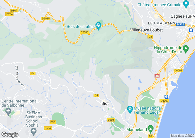 Map for BIOT, Mougins, Valbonne Area, Riviera,