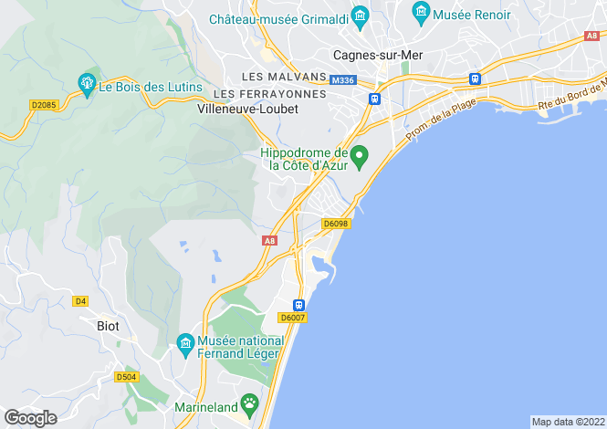 Map for Nice Las Planas, France