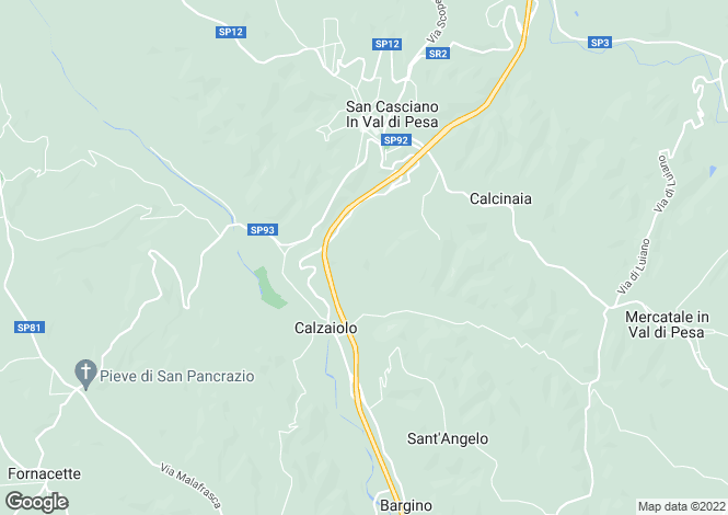 Map for Portion Of A Tuscan Farmhouse, San Casciano Val di Pesa, Florence, Italy