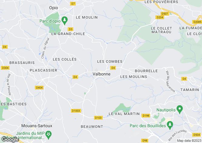 Map for Provence-Alps-Cote d`Azur, Alpes-Maritimes, Valbonne