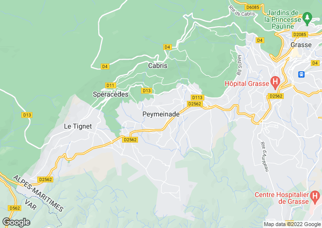 Map for Peymeinade, Alpes-Maritimes, 06530, France