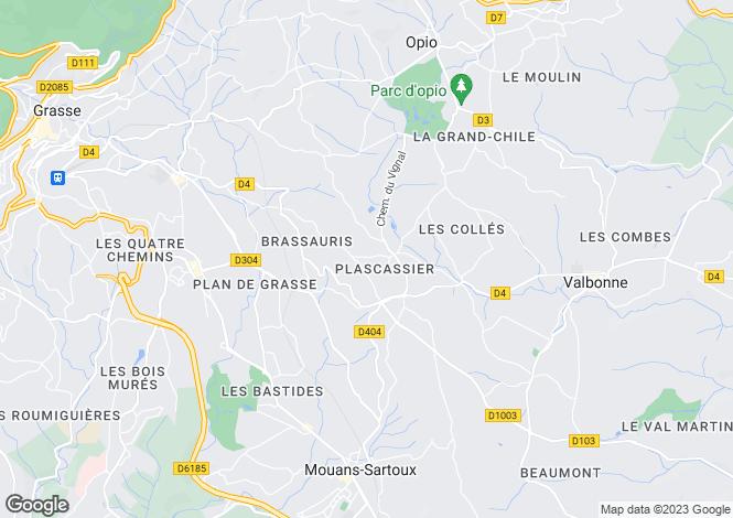 Map for Les Parettes, Plascassier, Cote D'Azur, France