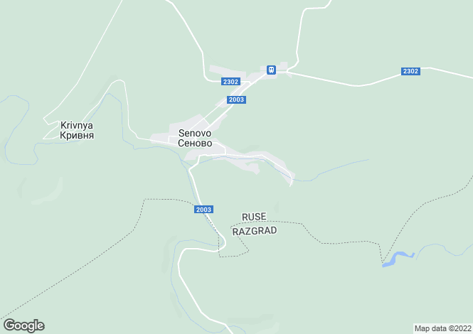 Map for Ruse, Senovo