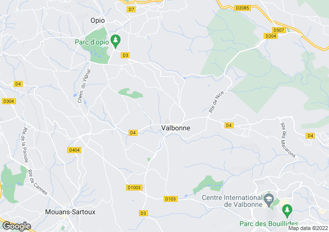 Map for VALBONNE,Provence-Alpes-Côte d'Azur, France