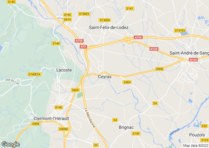 Map for B&B-Large House near Lac du Salagou, Ceyras