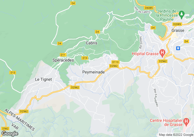 Map for Beautiful Provencal Villa, Peymeinade, Grasse