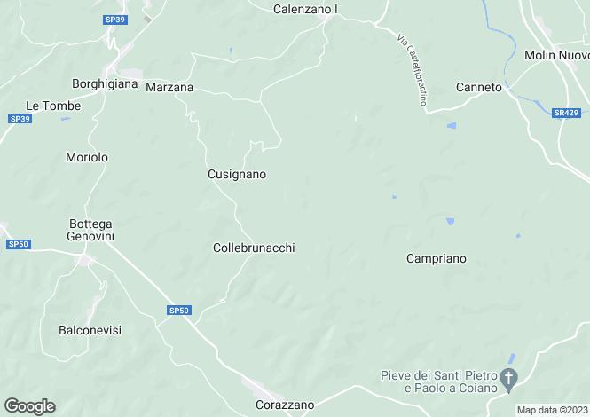 Map for Italy - Tuscany, Pisa, San Miniato