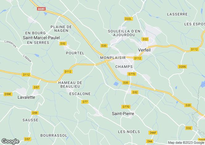 Map for Toulouse, Haute-Garonne, Midi-Pyrénées