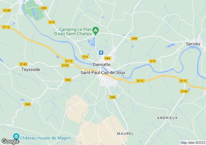 Map for Secteur: Saint-Paul-Cap-de-Joux, Tarn