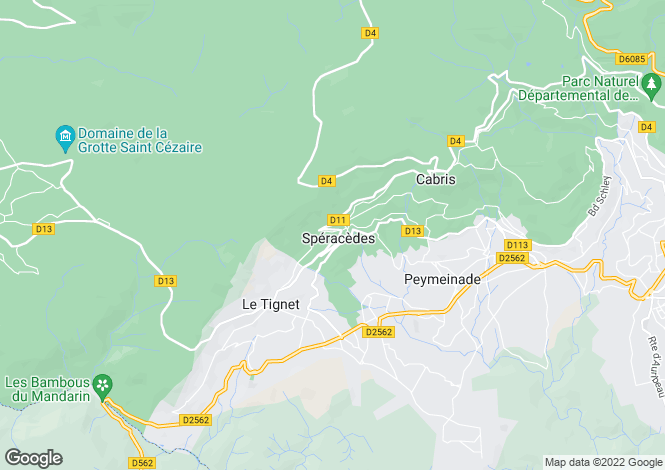 Map for Provence-Alps-Cote d`Azur, Alpes-Maritimes, Spéracèdes