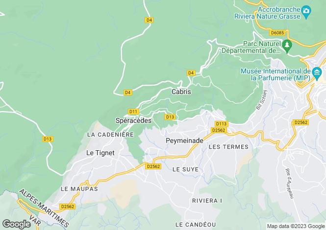 Map for Provence-Alps-Cote d`Azur, Alpes-Maritimes, Grasse