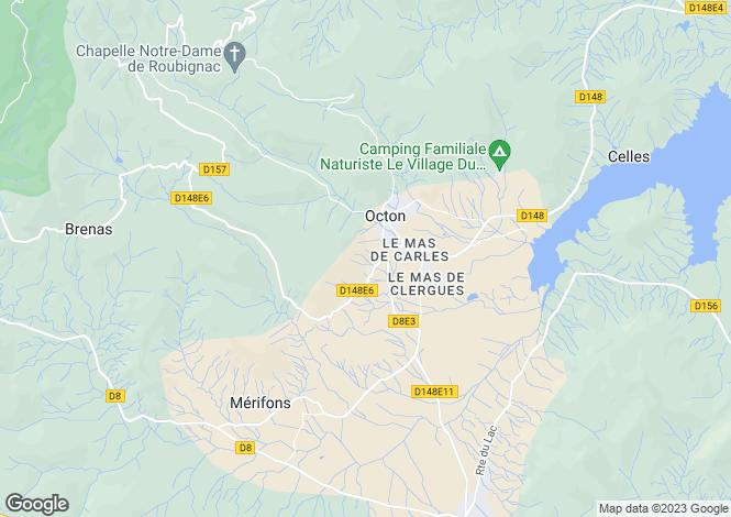 Map for octon, Hérault, France