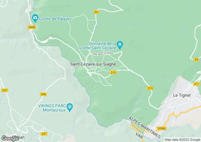 Map for st-cezaire-sur-siagne, Alpes-Maritimes, France