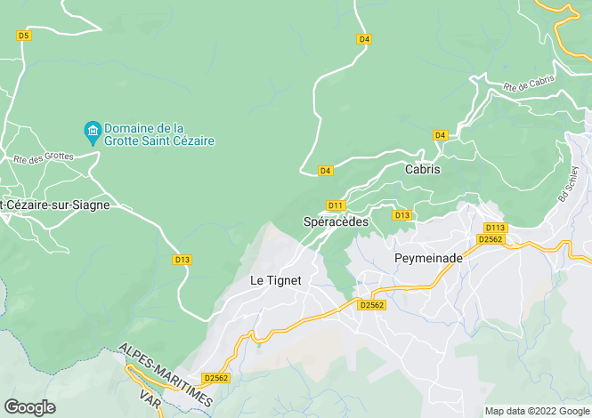 Map for Le Tignet, 06530, France