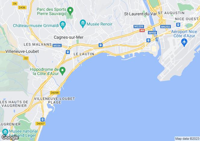 Map for CROS DE CAGNES, Cannes Area, Riviera,