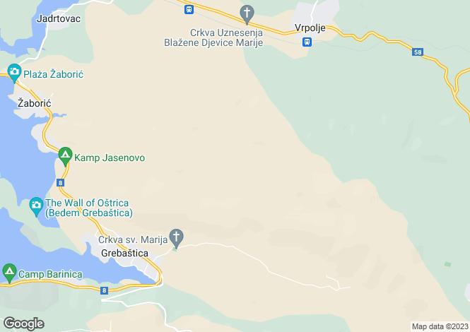 Map for Marina, Split-Dalmatia