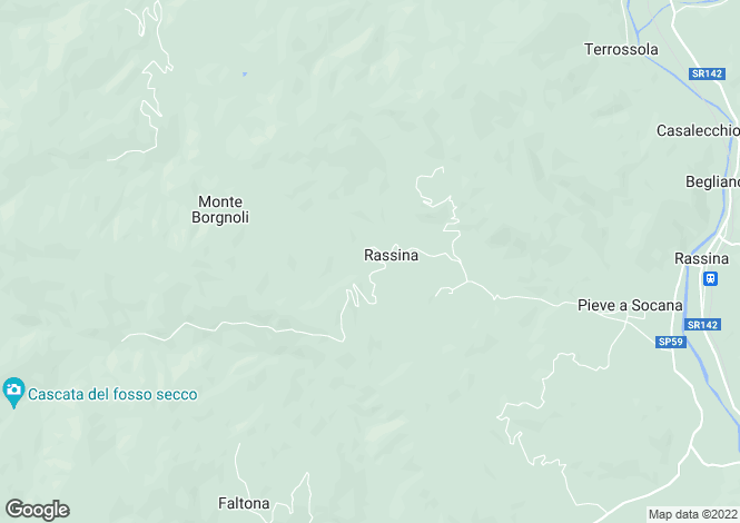 Map for Tuscany, Arezzo, Castèl Focognano