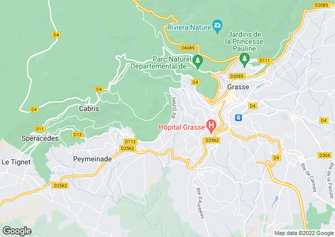Map for Grasse, Alpes-Maritimes, Provence-Alps-Cote d`Azur