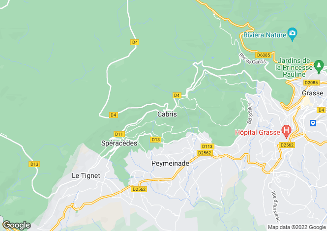 Map for Provence-Alps-Cote d`Azur, Alpes-Maritimes, Cabris