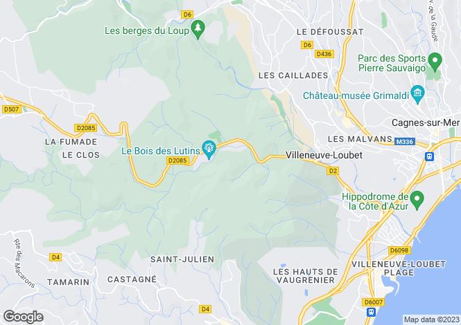 Map for Gattieres, Provence-Alpes-Cote dAzur, France