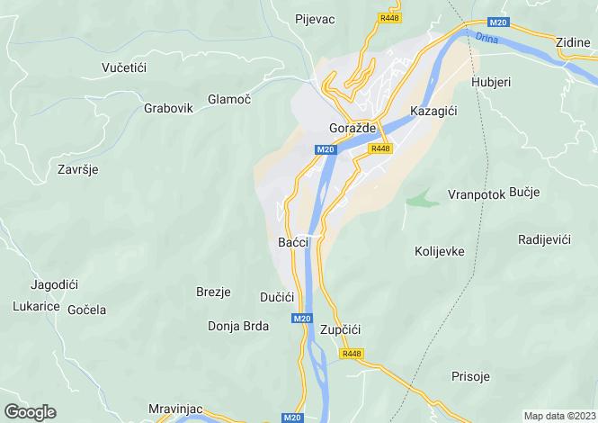 Map for Gorazde, Federacija Bosna i Hercegovina