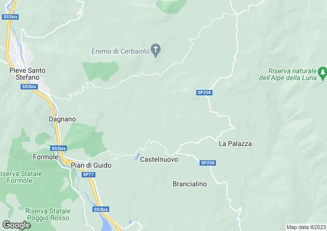 Map for La Palazza, Castelnuovo, Tuscany