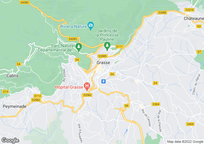 Map for GRASSE, Grasse area, Riviera,