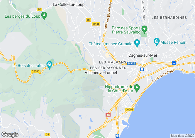 Map for Villeneuve-Loubet, Alpes-Maritimes, 06270, France