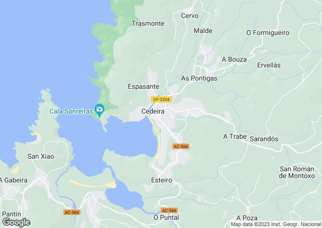 Map for Cedeira, A Coruña, Galicia
