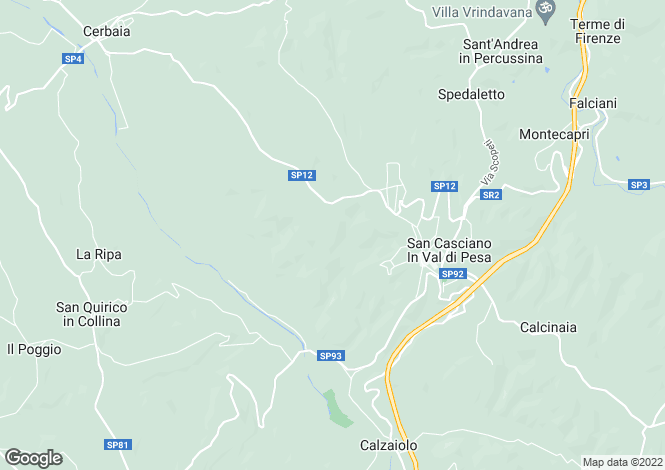 Map for San Casciano in Val di Pesa, Florence, Tuscany