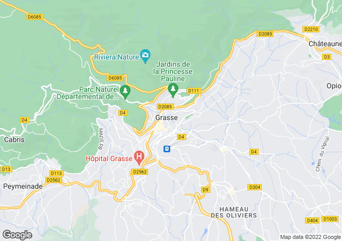 Map for Grasse, French Riviera