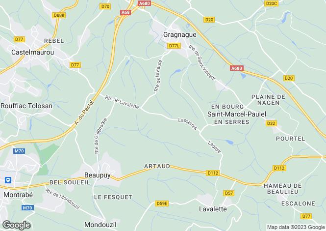 Map for Chateau de Lavalette, Lavalette