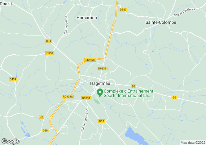 Map for horsarrieu ,France