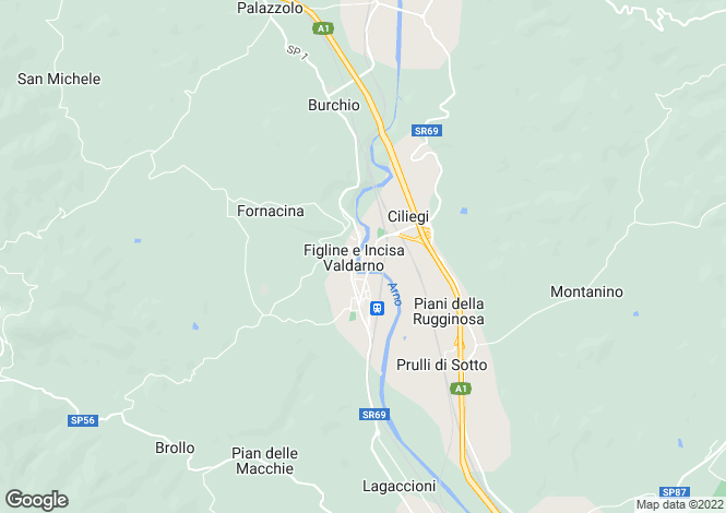 Map for Tuscany, Florence, Incisa in Val d`Arno
