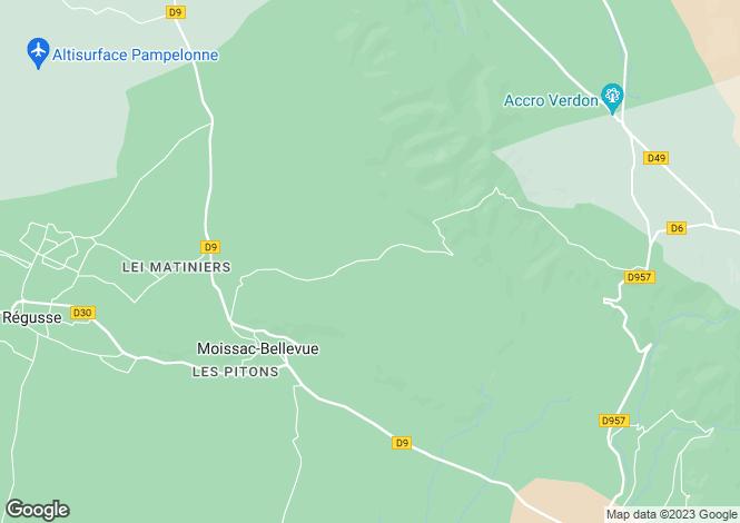Map for Provence-Alps-Cote d`Azur, Var, Moissac-Bellevue
