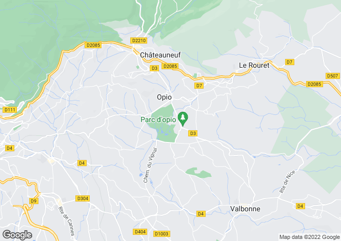 Map for Opio, Alpes-Maritimes, Provence-Alps-Cote d`Azur