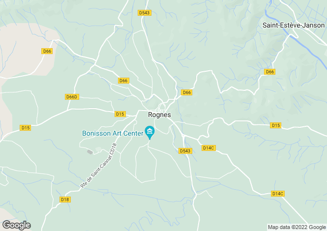 Map for France - Provence-Alps-Cote d`Azur, Bouches-du-Rhône, Rognes