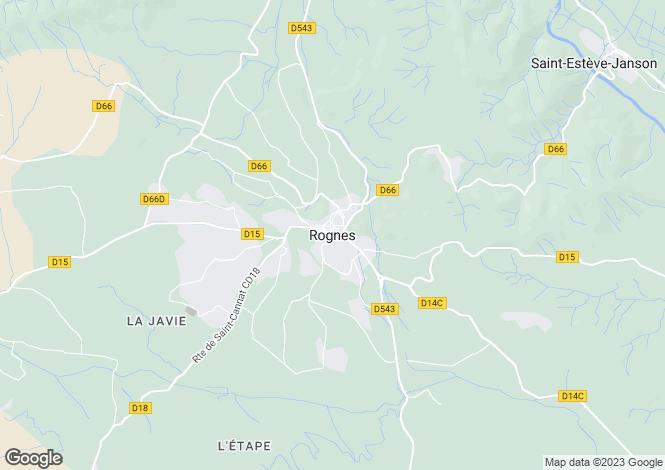 Map for Provence-Alps-Cote d`Azur, Bouches-du-Rhône, Rognes