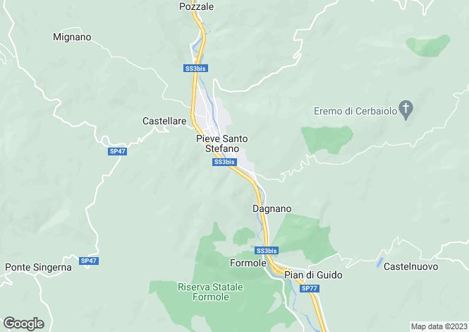 Map for Tuscany, Arezzo, Pieve Santo Stefano