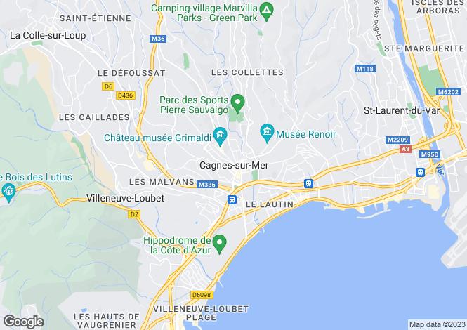 Map for Cagnes-Sur-Mer, France