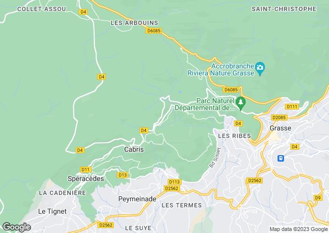 Map for Cabris, Alpes-Maritimes, Provence-Alps-Cote d`Azur